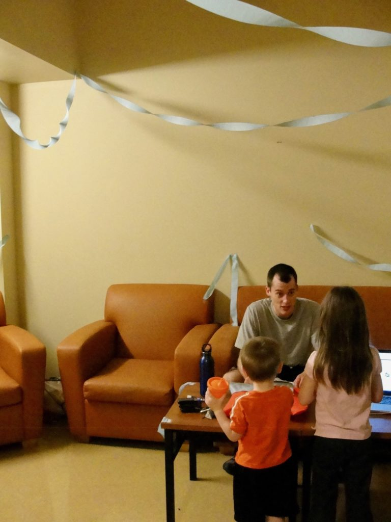 Celebrating Father's Day in the dorms at NST.